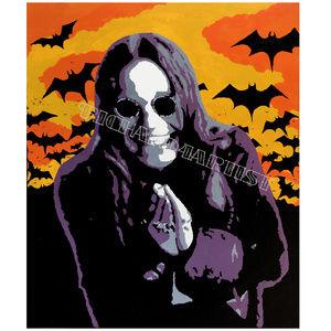 NWT Ozzy Osbourne Prayer Art PRINT Metal Bats Goth